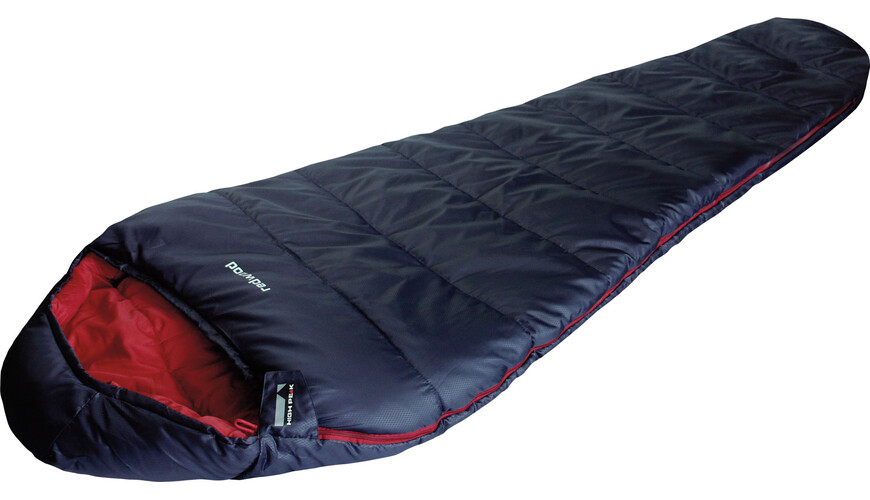 High Peak Redwood Sleeping Bag dunkelblau/chili